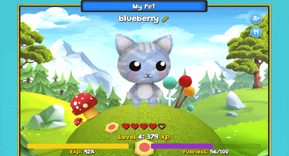 Children can take care of a virtual pet by practicing regularly.