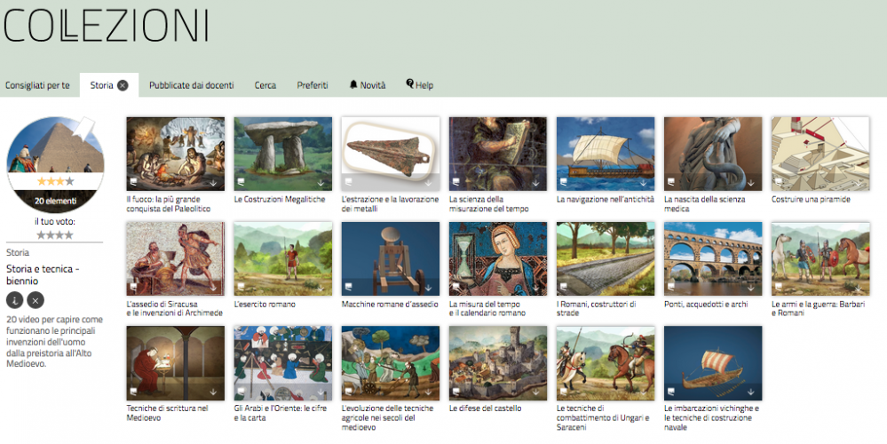 Collezioni has a large range of high quality videos on different subjects