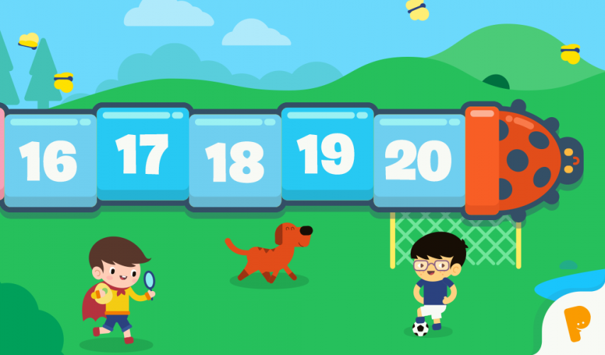 The product represents the numbers from 1 to 20 through different mini games.