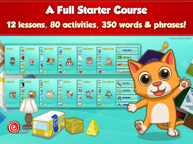 Uses versatile ways to teach new words and sentences.