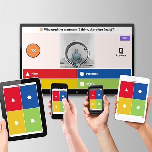 Teachers can create Kahoot! quizzes to test students' knowledge in a fun and social way.