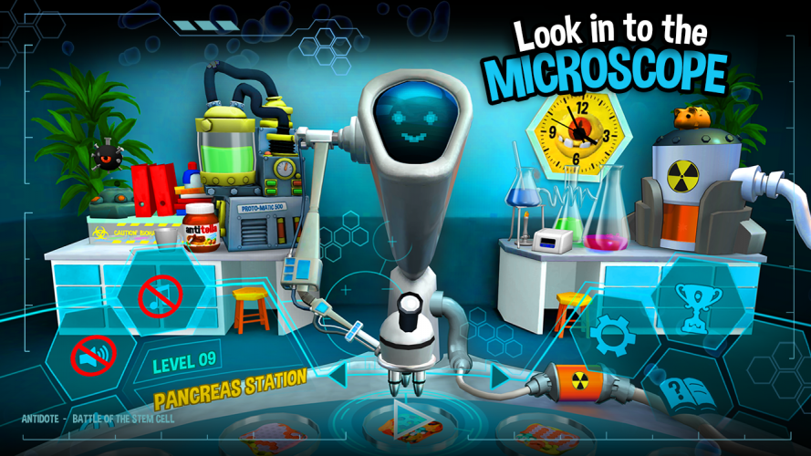 In Antidote the player is looking at the human body in a cellular level.