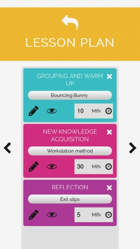 The app has extensive amount of lesson activities available.
