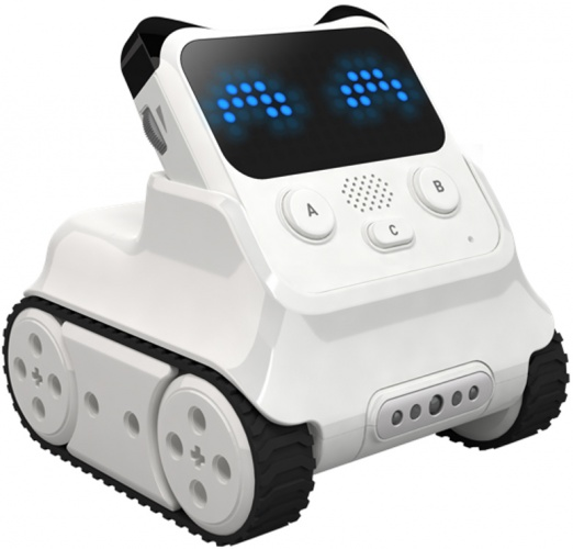 The mBlock app provides materials that guide users to learn by doing so it is easy to get started with the Codey Rocky robot.