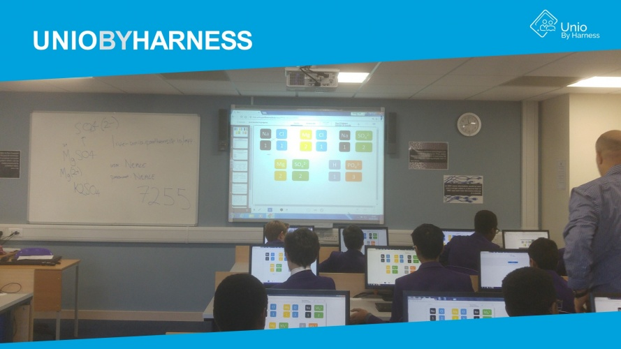 With Unio, it is easy to present the lesson and keep track on student's activities on their personal devices.