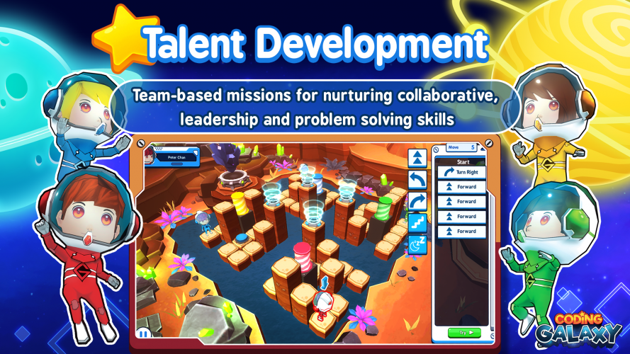 The game is visually of high quality and the suitable for many age groups who are getting introduced to coding.