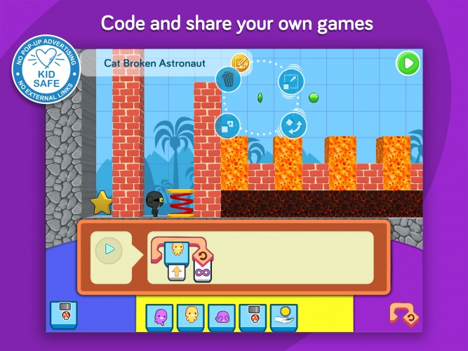 The Design and Code feature allows players to create their own levels.