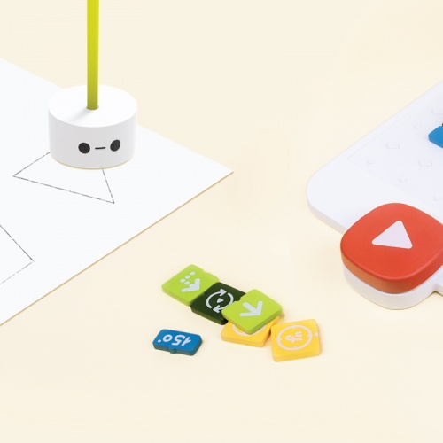 By inserting a pen to the robot, the robot can be made to draw shapes, angles and lines.