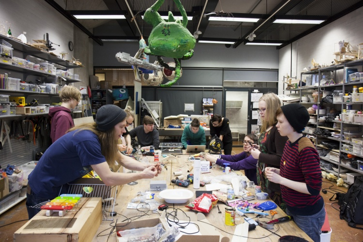 Creative Electronics and Programming course  combines students' interests and creative ambitions to programmable electronics and prototyping.
