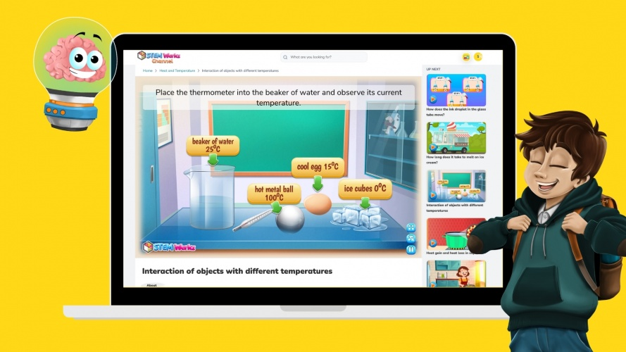 The topics are taught through interactive experiments.
