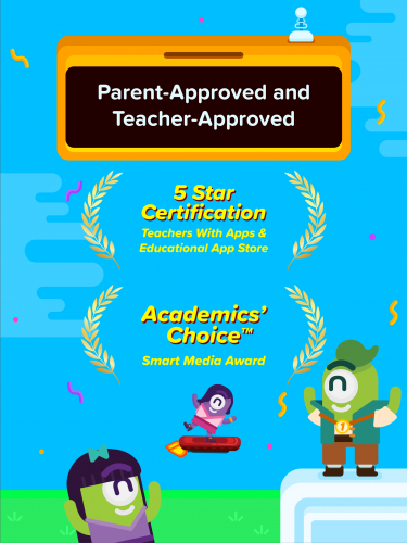 Parents and educators are provided with a dashboard to follow students' progression.