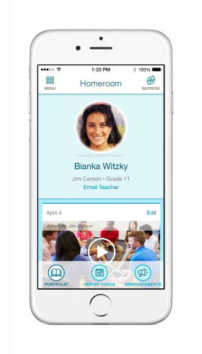 FreshGrade offers easy-to-use mobile apps for students and parents.