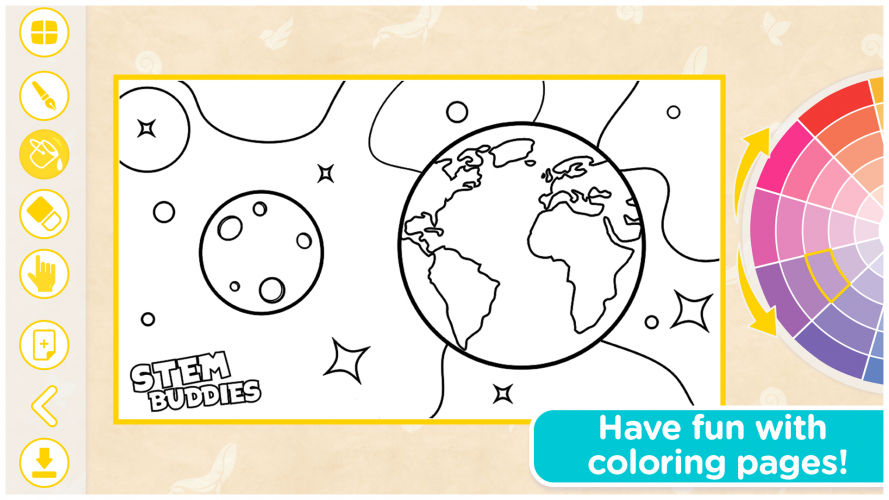 The coloring book offers plenty of images to explore