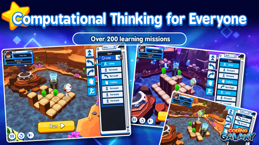 Coding Galaxy encourages players to learn the basics of programming in an engaging way.