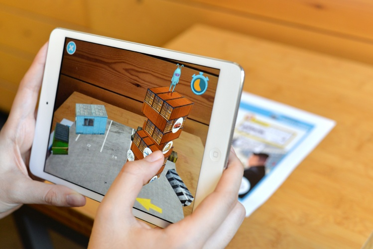 Nushu uses AR to deliver more information about the news and provides small game activities related to them.