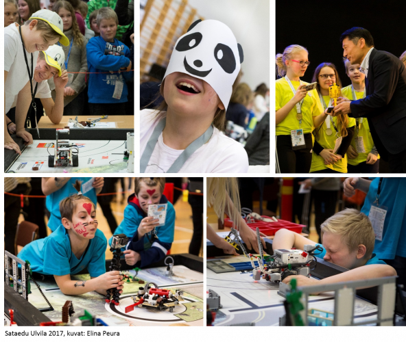 The FLL-tournaments are a great place for having fun and meeting other teams.