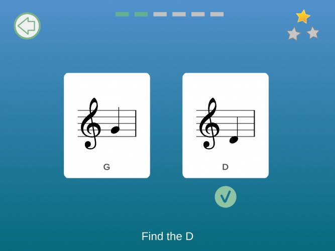 The app develops aural memory and recognition of notes.