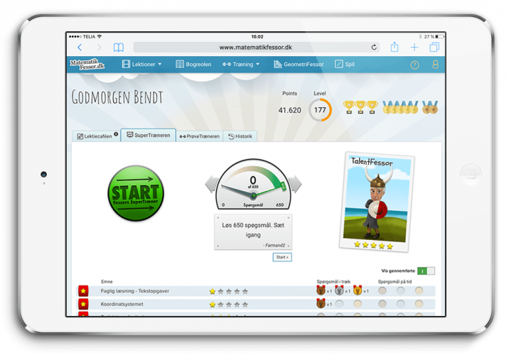 Gamified element makes it easy for students to stay motivated and rehearse their skills.
