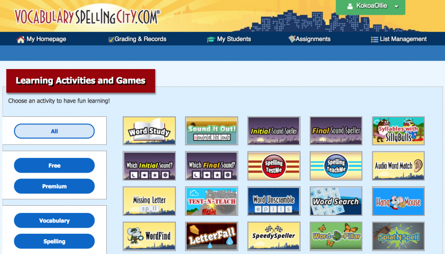 SpellingCity is a comprehensive platform for practicing spelling and vocabulary, covering the majority of the vocabulary, phonics and spelling goals set by CCSS, Australian, New Zealand and UK curriculums.