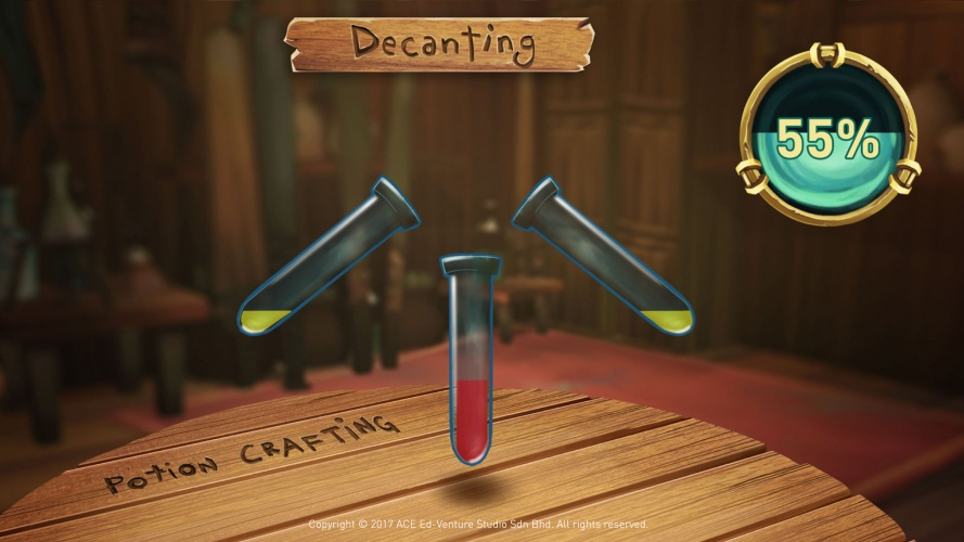 Players get familiarized with chemical bonding, scientific apparatus, chemical reactions and properties of elements through an exciting game play.