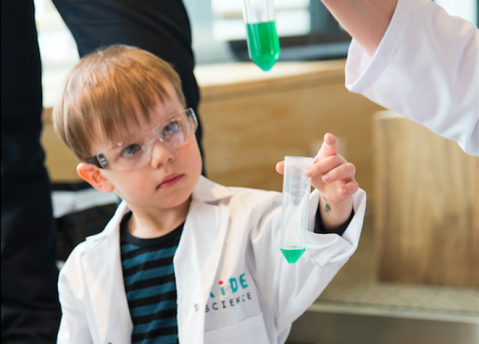 Children are in a highly active role as they get to work as scientists and do the experiments.