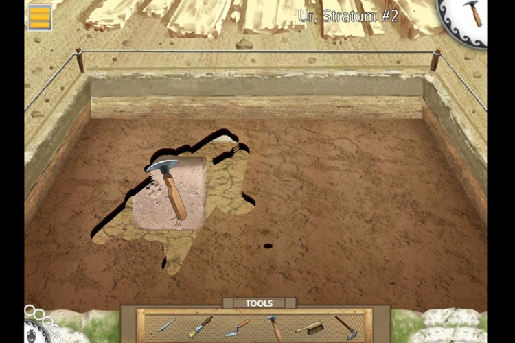 The game introduces the work of archaeologist and scientific method in practice.