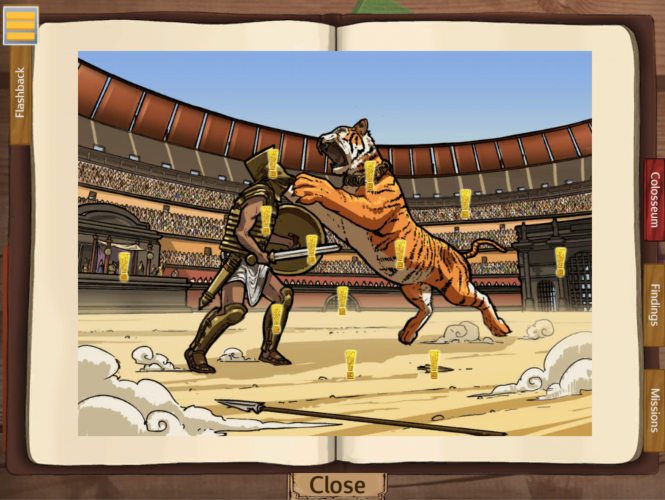 The game keeps the player stimulated, and generally, graphics support the mood and play.