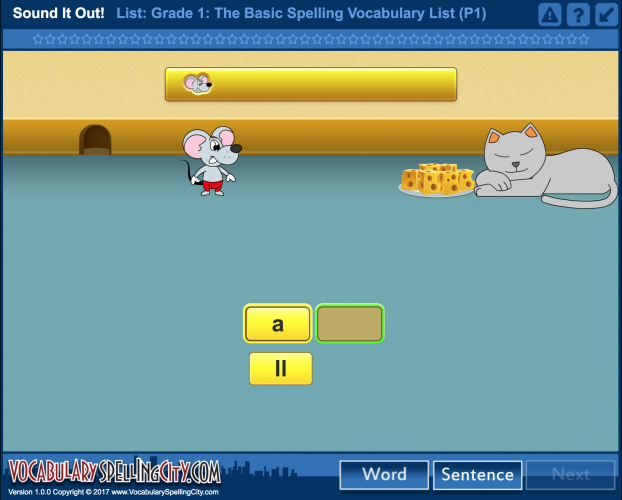 SpellingCity has multiple varied game tasks which require active engagement and provide instant feedback.