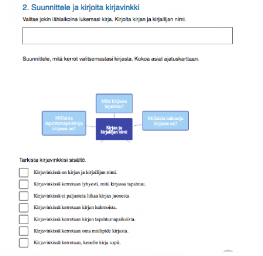 Broad, open-ended assignments are split into smaller parts, which are easy to follow. The students can easily understand, what is required in the assignments.