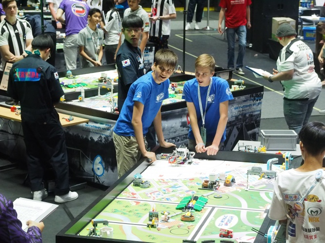 Each annual challenge has own theme and a special game board, which teams needs to practice for robotics competition