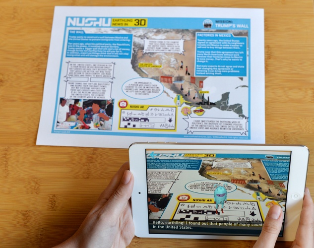 Nushu AR provides today's news in a age appropriate and engaging way.