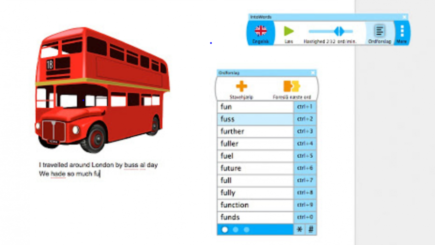 IntoWords helps with reading comprehension and spelling in a student-led and open-ended way.